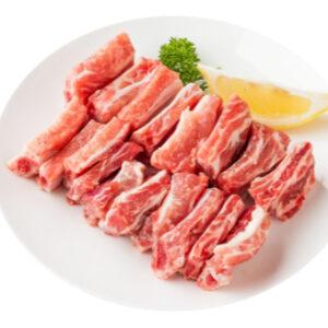 Costilla de cerdo fresca a trozos