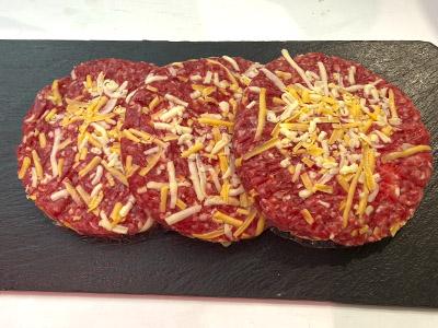 Hamburguesa ternera y 4 quesos