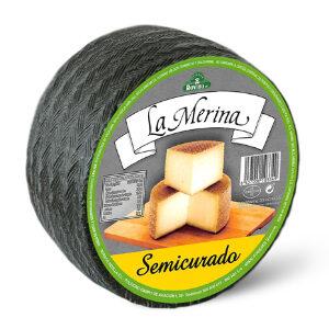 """Queso mezcla semicurado """"La Merina"""" 82% vaca 18% oveja M.G.39,3%"""