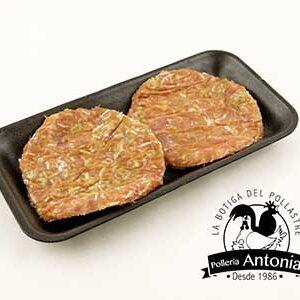hamburguesa queso y cebolla
